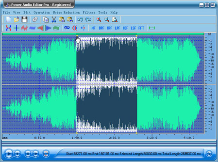 Click to view Power Audio Editor Pro screenshots